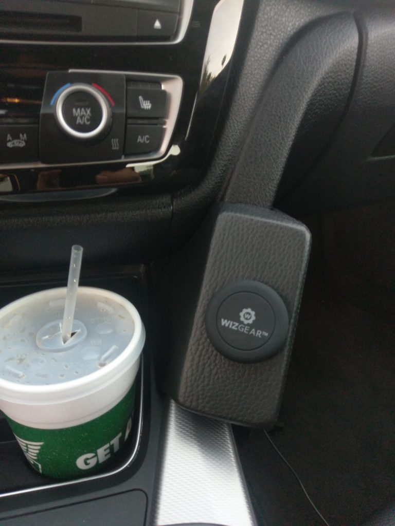 Kuda phone mount with generic stick on magnet